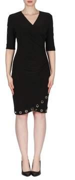 Joseph Ribkoff Ruched Grommet Dress