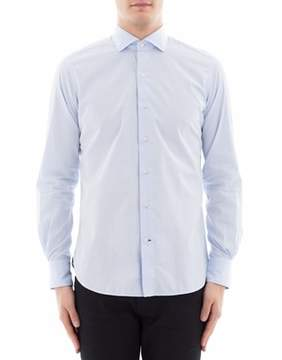 Orian Men's Light Blue Cotton Shirt.