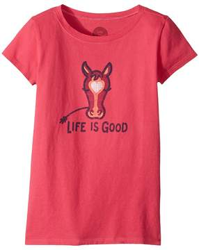 Life is Good Horse Crusher Tee Girl's T Shirt