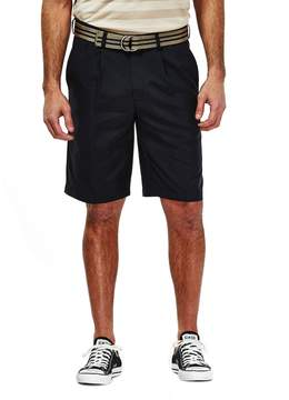 Haggar Men's Pleated Oxford Shorts