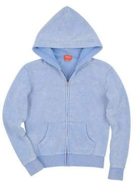 Butter Shoes Girl's Mineral Wash Camp Zip Hoodie