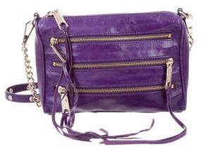 Rebecca Minkoff Moto 3-Zip Crossbody Bag - PURPLE - STYLE