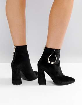 Public Desire Paparazzi Hoop Heeled Ankle Boots