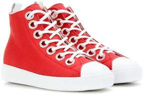 N°21 Embellished high-top sneakers