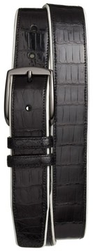 Mezlan Men's 'Saratoga' Genuine Crocodile Leather Belt