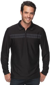 Haggar Men's Regular-Fit Quarter-Zip Polo