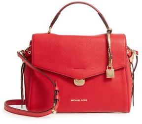 Michael Kors Medium Lenox Leather Satchel - Red