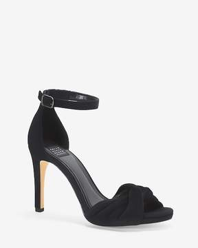 White House Black Market Velvet Two-Piece Heels