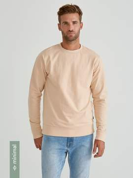 Frank and Oak Organic French Terry Crewneck Sweatshirt in Cream Tan