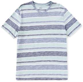 Roundtree & Yorke Soft-Washed Short-Sleeve Striped V-Neck