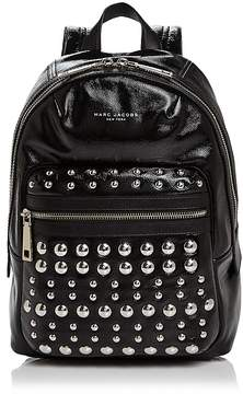 Marc Jacobs Biker Studded Leather Backpack - BLACK/SILVER - STYLE