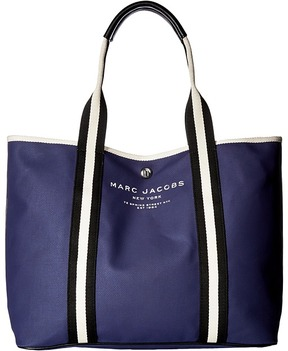 Marc Jacobs Canvas Shopper East/West Tote Tote Handbags - MIDNIGHT BLUE - STYLE