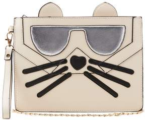 Faux Leather Cat Face Clutch