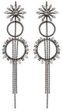 Erickson Beamon China Club Gunmetal Earrings