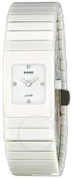 Rado Ceramica Small Jubile White Diamond Dial Ladies Watch