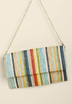 Urban Expressions Inc. Take Color Straw Clutch