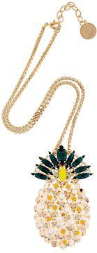 Anton Heunis Pandora's Box Pineapple Necklace