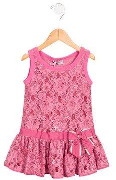 MonnaLisa Girls' Lace Embellished Dress
