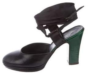 Dries Van Noten Leather Ankle-Strap Pumps