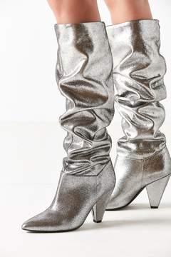 Urban Outfitters Tess Glitter Scrunch Knee-High Boot