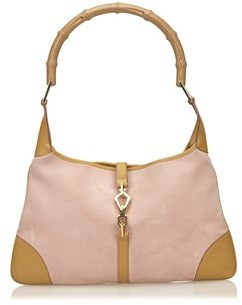 Gucci Pre-owned: Suede Bamboo Jackie. - PINK X BROWN - STYLE