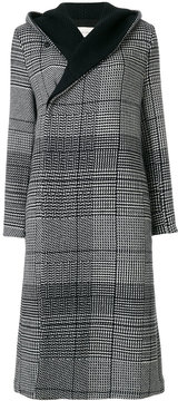 Stephan Schneider tartan hooded wrap coat