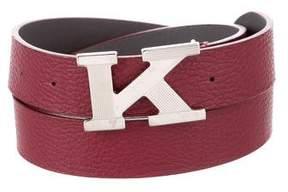 Kiton Logo Leather Belt