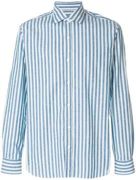 Barba striped slim-fit shirt