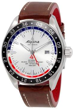 Alpina Alpiner 4 GMT Automatic Silver Dial Men's Watch 550SRN5AQ6
