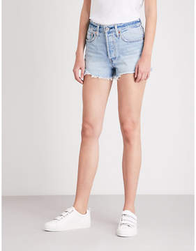 Levis 501 High Rise Denim Shorts