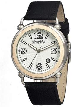 Simplify The 1600 Leather-band Watch.