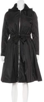 Prada Hooded Knee-Length Coat