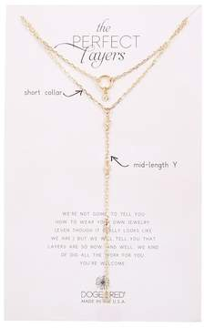 Dogeared Perfect Layers Y-Drop Necklace - Set of 2