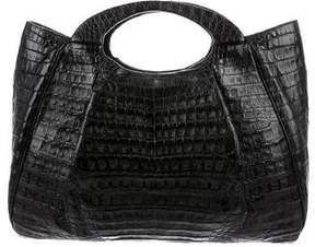Nancy Gonzalez Crocodile Pleated Satchel