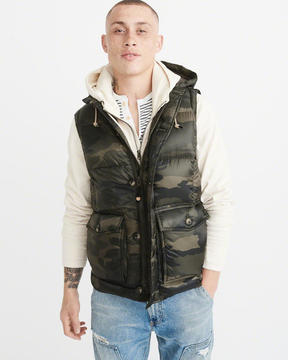 Abercrombie & Fitch Down-Filled Puffer Vest