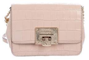 MICHAEL Michael Kors Small Tina Embossed Leather Clutch