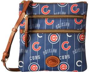 Dooney & Bourke MLB North/South Triple Zip Crossbody Bag Cross Body Handbags - CARDINALS - STYLE
