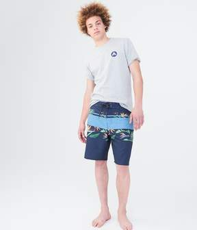 Aeropostale Airwalk Floral Stripe Stretch Boardshorts