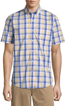 Dockers Short Sleeve Plaid Button-Front Shirt