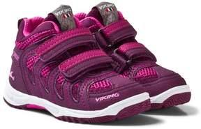 Viking Magenta Cascade Velcro Kids Trainers