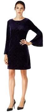ECI Velvet Bell Sleeve Shift Dress.