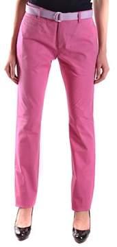 Berwich Women's Fuchsia Cotton Jeans.