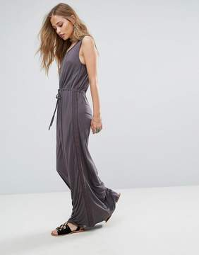 Bellfield Violet Lace and Ladder Maxi Dress