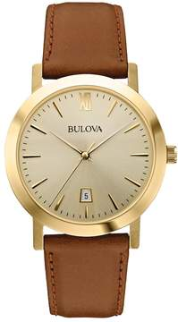 Bulova Men's Classic Leather Watch - 97B135