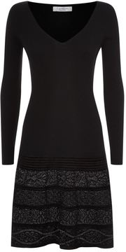 D-Exterior D.Exterior Lurex Panel Knitted Dress