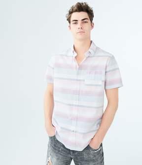 Aeropostale Horizontal Stripe Woven Shirt