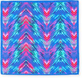 Bugatchi Electric Tie-Dye Silk Pocket Square