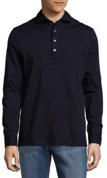 Ralph Lauren Purple Label Keaton Solid Cotton Long-Sleeve Polo