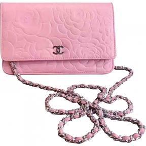 Wallet on Chain leather handbag