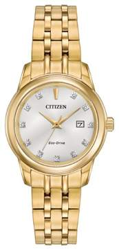 Citizen Eco-Drive EW2392-54A Silver/Gold Analog Women's Watch